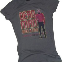 Dead Man Walking -- Star Trek Crop Sleeve Fitted Juniors T-Shirt
