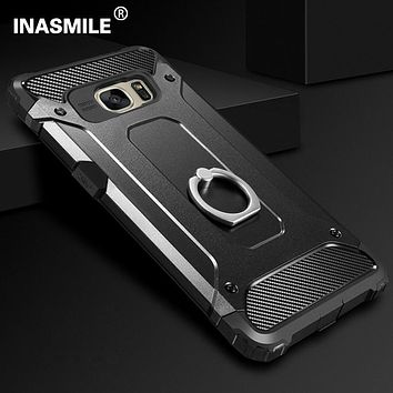 Shockproof Armor Case For Samsung Galaxy J1 J3 J5 J7 2015 2016 2017 J500 J700 J2 Prime J710 J510 Ring Case Cover Coque Funda
