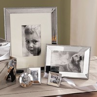 Beaded Silver-Plated Frames