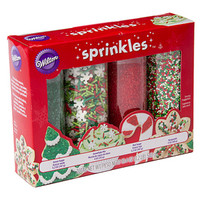 Christmas Holiday Mega Sprinkle Bottles: 4-Piece Pack