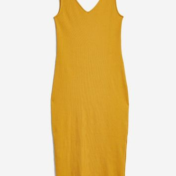 TALL Tie Top Lettuce Bodycon Dress | Topshop