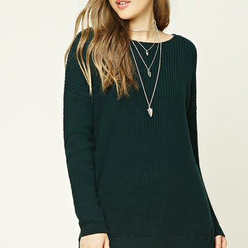 Lace-Hem Dolman Sweater