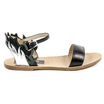 Golden Goose Womens Ankle Strap Flat Sandal G24D297 A3