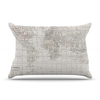 "Catherine Holcombe ""The Old World Cream"" White Pillow Case"