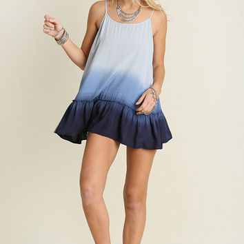 Umgee USA Blue Dip Dye Tunic