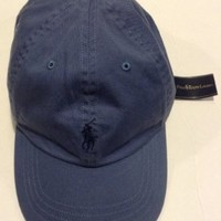 Exclusive Polo Ralph Lauren Royal Blue Men's Baseball Cap/Hat with Horse and Leather Adjuster