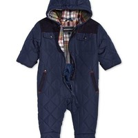 S Rothschild & CO S. Rothschild Baby Boys Hooded Quilted Footed Pram Kids - Coats & Jackets - Macy's
