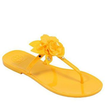 CREY3DS Tory Burch Blossom Thong Sandal Jelly Flip Flop