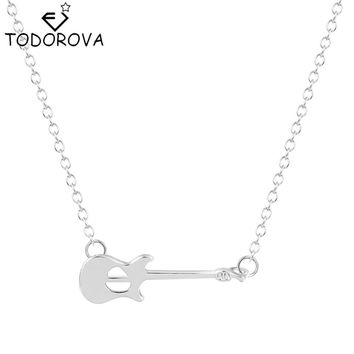 Todorova 10pcs Fashion Guitar Necklace Pendant Punk Rock Music Jewelry Delicate Necklace Lovely Necklace Gift for Women