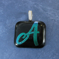 A Pendant, A Initial Pendant, Letter Pendant, Omega Slide, Jewelry - Allysa - 4485 -3