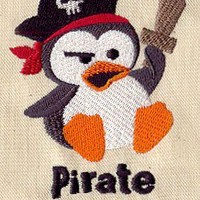Penguin Pirate In Training Baby bib by MorningTempest on Etsy