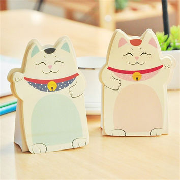 Cute cat Memo Pad Sticky Note Kawaii Paper Scrapbooking Stickers Pad novelty Items Stationery Free shipping 230