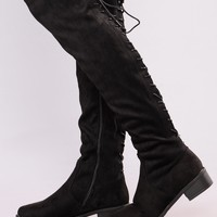Stina Flat Boot - Black