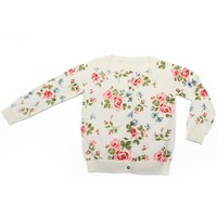 Little Girl's Floral Sweater