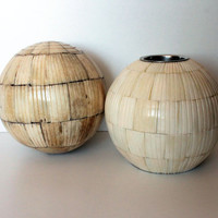 Round Ivory Candleholder, rustic home decoration, home and rustic living