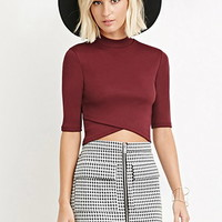 Houndstooth Zipped Skirt