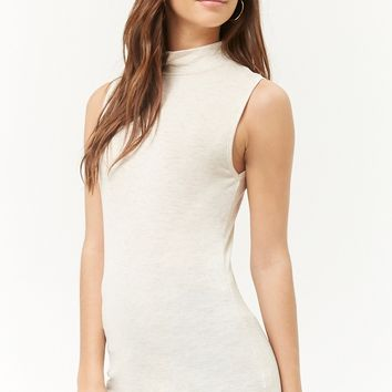 Sleeveless Mock Neck Top