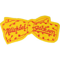 Michael Jackson Men's Bowtie 2 Embroidered Patch Yellow
