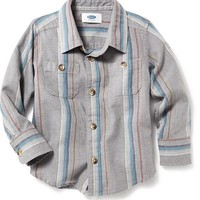 Old Navy Blanket Stripe Button Front Shirt