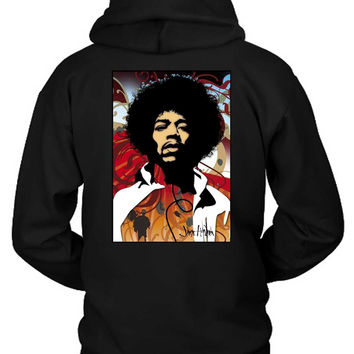 Jimi Hendrix Fan Art Modern Hoodie Two Sided