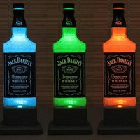 Big 1.75 Liter Jack Daniels Color Changing LED Remote Controlled
