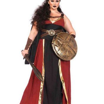 DCCKLP2 3PC.Regal Warrior,long dress,arm cuffs,and matching headband in MULTICOLOR
