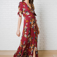 Penny Wrap Front Maxi Dress-FINAL SALE