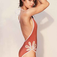 Out From Under Floral Cutout One-Piece Swimsuit