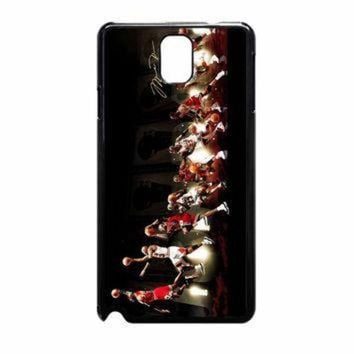 DCKL9 Michael Jordan NBA Chicago Bulls Dunk Samsung Galaxy Note 3 Case