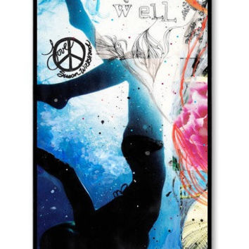 iPhone 4/4s CASE, LIVE WELL, cell phone cover, Ocean, Swimming, Flowers, Shells, Avail. with black or white case color