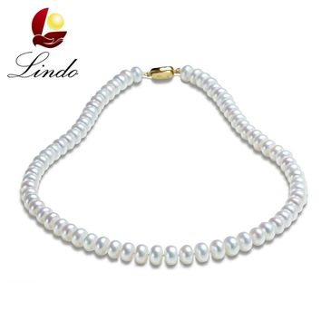 Noble Pearl Necklace 100% Real Freshwater Pearl Jewelry