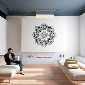 Wall Art - Mandala of Oneness geometric vinyl wall decal / sticker / mural mandala wall decor