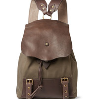 Bill Amberg - Hunter Canvas and Leather Backpack | MR PORTER