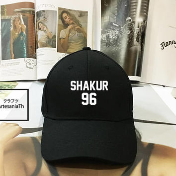 Shakur 96 Dad Hat Black Pink White - Baseball Cap, Dad Hat Dad Cap Baseball Hat Baseball Cap , Low-Profile Baseball Cap Tumblr