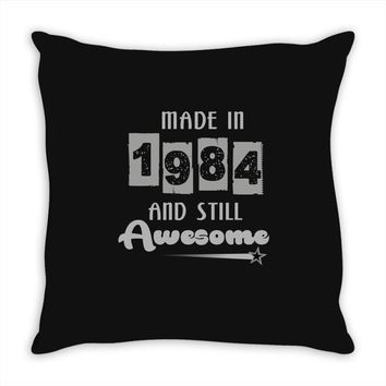made in 1984 and still awesome Throw Pillow