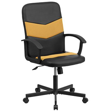 Mid-Back Vinyl and Mesh Racing Executive Swivel Office Chair