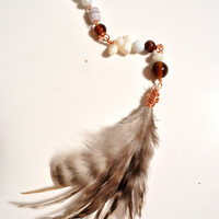 Beaded Feather Extension-Layla