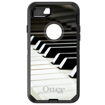 DistinctInk™ OtterBox Defender Series Case for Apple iPhone / Samsung Galaxy / Google Pixel - Piano Keys Keyboard