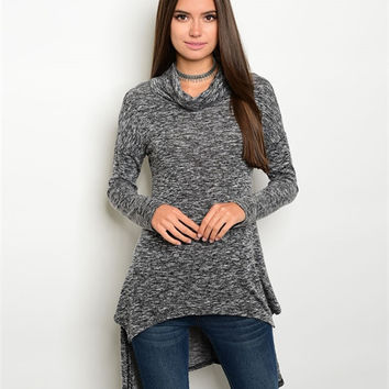 Slub Charcoal Sweater