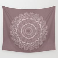Wall Tapestry - 'Pink Mandala on Mauve' - Home, Decor, Wall, Modern, Home Warming Gift, Symmetry, Harmony, Bohemian, Boho, Hippie, Mauve