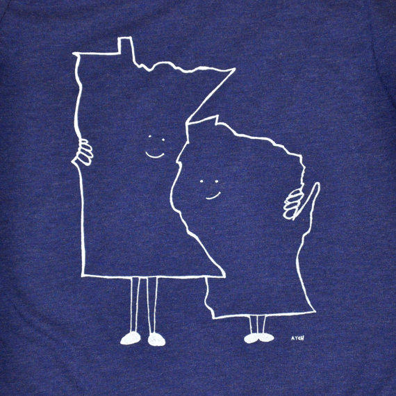 a41e2cccf6e Women  39 s Minnesota (MN) and Wisconsin from TheLetterAych
