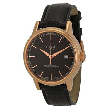 Tissot Carson Black Dial Rose Gold-plated Mens Watch T0854073606100
