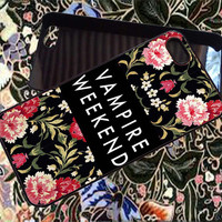 Vampire Weekend Flower  for iPhone 4/4S/5/5S5C Case, Samsung Galaxy S3/S4 Case, iPod Touch 4/5 Case