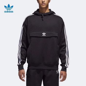 Adidas Fashion Casual Long Sleeve Stripe Hoodie Pullover Sweater