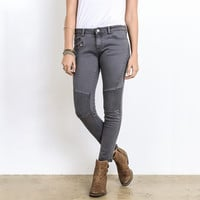 see you later biker jeans - charcoal