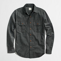 Factory tweed camp shirt