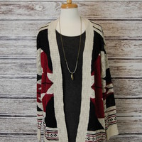Aztec Cardigan Sweater - American Threads