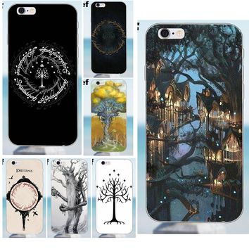 Suef Lord Of Rings Tree Soft Cute Case For iPhone 4 4S 5 5S 5C SE 6 6S 7 8 Plus X Galaxy J1 J3 J5 J7 A3 A5 2016 2017