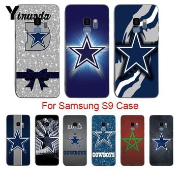 Yinuoda Dallas Cowboys Glitter Cute Phone Accessories Case For samsung galaxy s9 plus s7 s6edge s8 plus s5 case