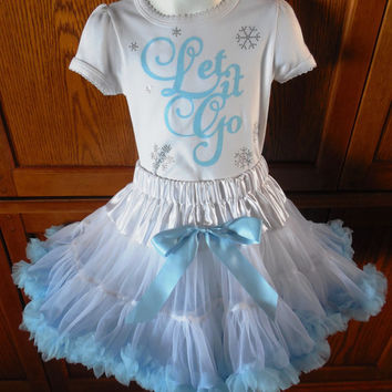 Let it Go T-Shirt, Frozen, Rhinestone T-Shirt, Toddler T-Shirt,Princess T-Shirt,Girls T-Shirts